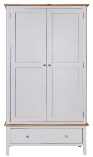 Scandia Grey Large 2 Door Wardrobe